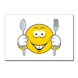 hungry_smiley_face_postcards_package_of_8